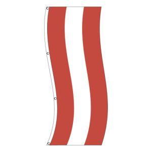 Vertical Flag -  Red, White Stripe