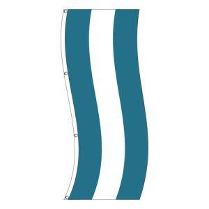 Vertical Flag - Teal, White Stripe