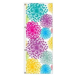 Stand out with this designer vertical flag!