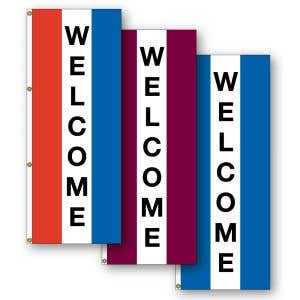 """Vertical Flags - """"Welcome"""""""