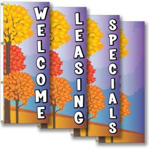 Vertical Flags - Fall Harvest