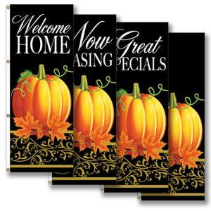 Vertical Flags - Fancy Pumpkin