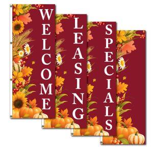 Vertical Flags - Autumn Harvest