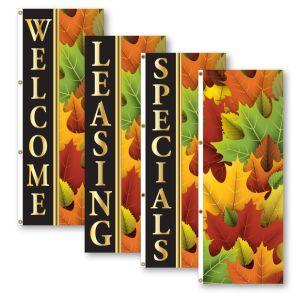 Vertical Flags - Elegant Autumn