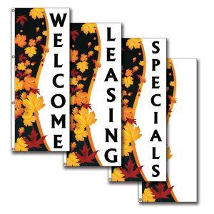 Vertical Flags - Autumn Magic