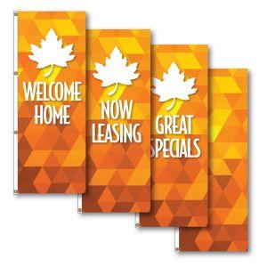 Vertical Flags - Autumn Leaf