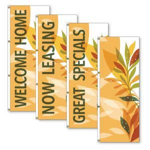 Vertical Flags - Stylish Leaves