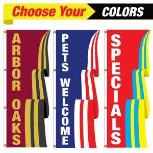 Choose the colors and text on your custom 3D flag!