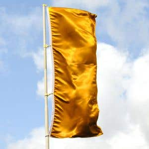 Stand out with bright, metallic flag!