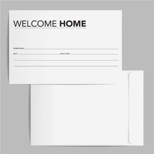 Welcome Envelope - Modern Black