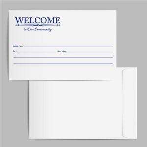 Welcome Envelope - Decorative Blue