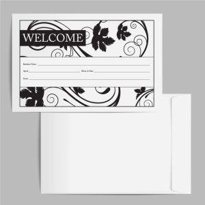 Welcome Envelope - Black Leaf