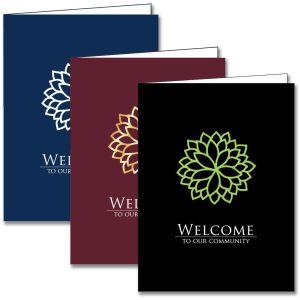 Welcome Folder - Modern Flower