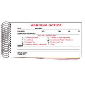 Booked Warning Notices