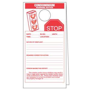 Warning Notice for Condominiums