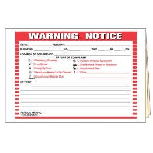 Warning Notice & Incident Report Form
