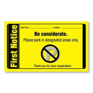 """Parking Violation - """"First Notice"""""""