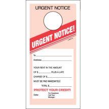 Urgent Notice Door Hanger