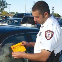 Fluorescent Orange Parking Violation