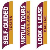 Wave Flags - Standard - Burgundy and Gold