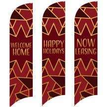 Holiday Wave Flags - Snowflake Decor
