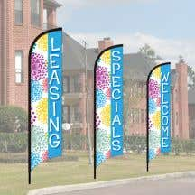 Wave Flag Kits - Colorful Blooms - Blue