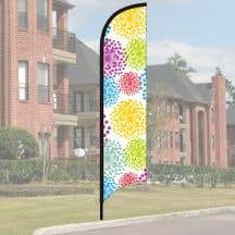 Wave Flag Kit - Colorful Blooms