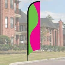 Wave Flag Kit - Lime and Pink