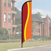 Wave Flag Kit - Red, Yellow, Orange
