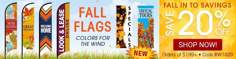 Fall flags. Colors for the wind.