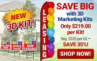 Save Big with 3D Marketing Kits Only $219 Reg $335