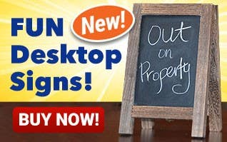 NEW - Fun Desktop Signs