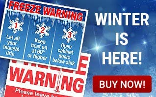 Winter Is Here - Freeze Warning Signs
