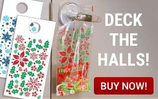 Deck the Halls - Holiday Door Hanger Bags