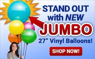 """New JUMBO 27"""" Vinyl Balloons"""