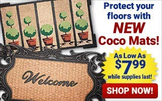 NEW Coco Door Mats as low as $7.99 while supplies last