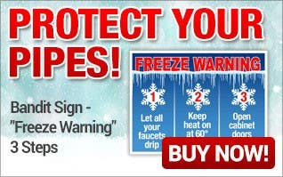 Protect Your Pipes Freeze Warning Signs