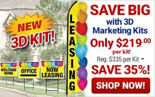 Save Big with 3D Marketing Kits Only $219 per kit - reg $335 per kit