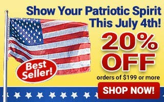 Show Your Patriotic Spirit This July 4th - 20% Off $199+ Orders