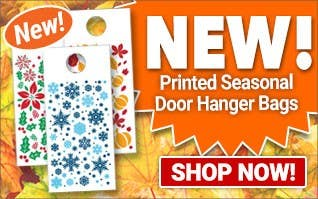 NEW - Printed Seasonal Door hanger Bags