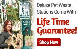 Lifetime Guarantee on Pet Waste Stations
