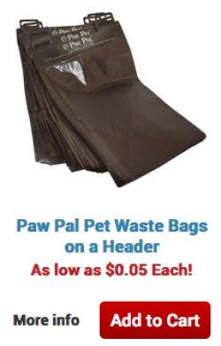 Paw Pal Pet Waste Bags on a Header. As low as $.0.05 Each! More info Add to Cart