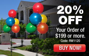 Balloon Cluster Poles 20% OFF your order of $199 or more