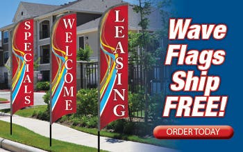 Wave Flags Ship FREE